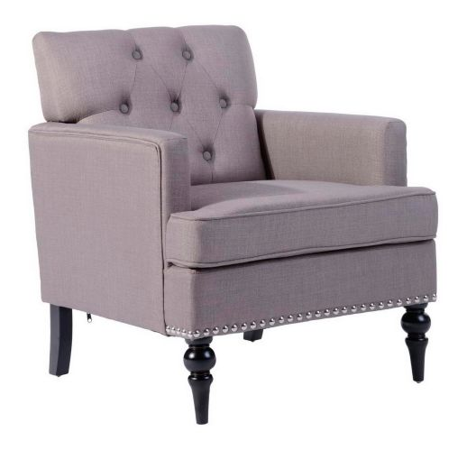 39F Kas Patterned Pleather Accent Chair, Grey Product image