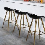 39F Fiyan Bar Stool, Black/Bronze | VMCnull