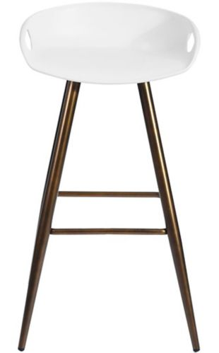 39F Fiyan Dining Chair, White/Bronze Product image