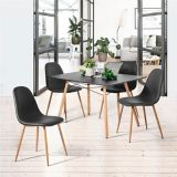 39F Charlton PU Dining Chair, Black | Waldonull