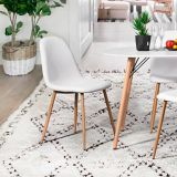 39F Charlton PU Dining Chair, White | Walkersnull