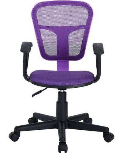 Siège de bureau avec accoudoirs en tissu 39F Flying, violet Image de l'article