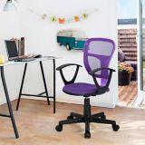 Siège de bureau avec accoudoirs en tissu 39F Flying, violet | Weed Eaternull