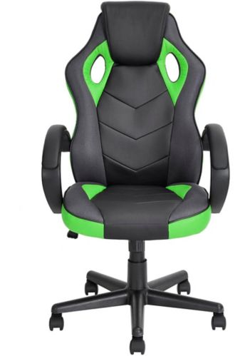 39F Linton High Back Gaming Chair, Green/Black Product image