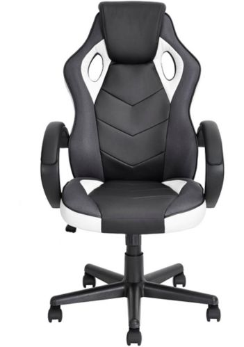 39F Linton High Back Gaming Chair, White/Black Product image