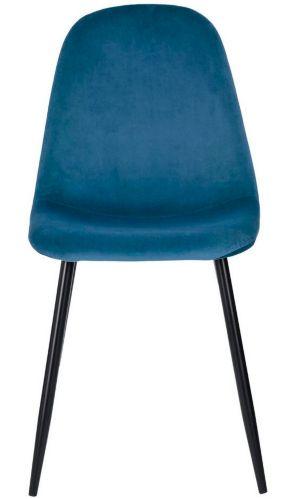 Chaise de salle à manger en velours 39F Charlton, bleu Image de l'article