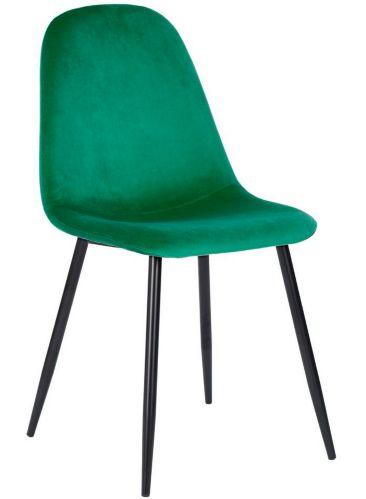 Chaise de salle à manger en velours 39F Charlton, vert Image de l'article