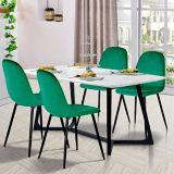 Chaise de salle à manger en velours 39F Charlton, vert | Wildgame Innovationsnull