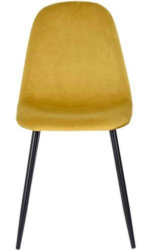 Chaise de salle à manger en velours 39F Charlton, jaune Image de l'article