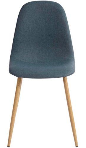 Chaise de salle à manger en tissu 39F Charlton, bleu Image de l'article