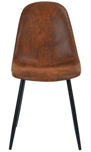 Chaise de salle à manger en suède 39F Charlton, brun Image de l'article