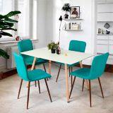 Chaise de salle à manger rembourrée 39F Scargill, vert | Windlassnull