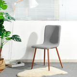 Chaise de salle à manger rembourrée 39F Scargill, gris | Windlassnull