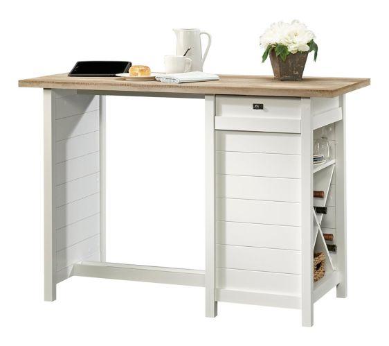 Sauder Cottage Road Work Table, Soft White Product image