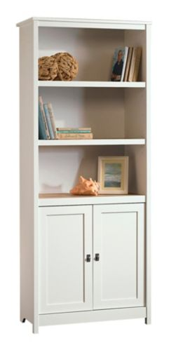 Sauder Cottage Road Library with Doors, Soft White Product image