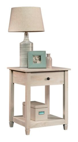 Sauder Edge Water Side Table, Chalked Chestnut Product image