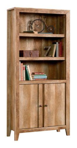 Sauder Dakota Pass Library with Doors, Craftsmen Oak Product image