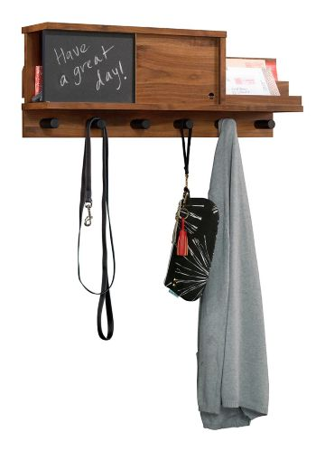 Sauder Harvey Park Wall Organizer, Grand Walnut Product image