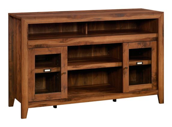 Sauder Dakota Pass Entertainment/Fireplace Credenza, Grand Walnut Product image