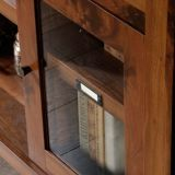 Sauder Dakota Pass Entertainment/Fireplace Credenza, Grand Walnut | Saudernull