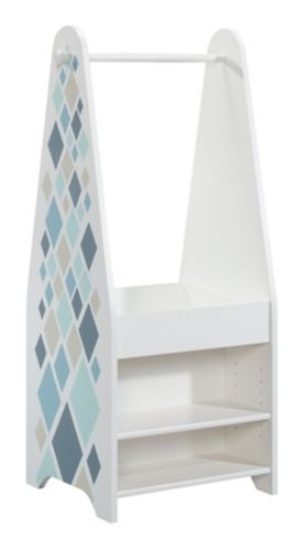 Sauder Pinwheel Kids' Open Wardrobe, Soft White Product image