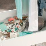 Garde-robe ouverte pour enfant Sauder Pinwheel, blanc doux   Saudernull