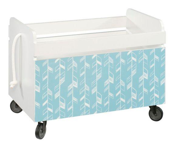 Sauder Pinwheel Rolling Toy Box, Soft White Product image