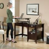 Sauder Shoal Creek Lift Top Desk, Jamoca Wood | Saudernull