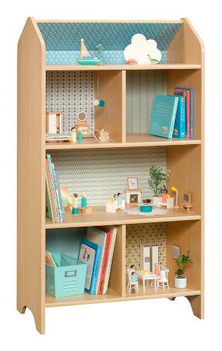 Sauder Pinwheel Dollhouse/Bookcase, Urban ash Product image