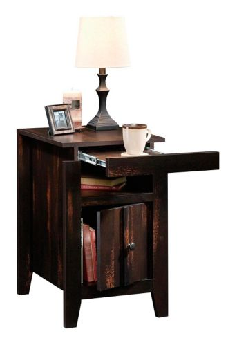 Sauder Dakota Pass Side Table, Char Pine Product image