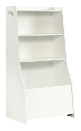 Bibliothèque Sauder Pinwheel, bac de rangement, blanc doux Image de l'article