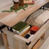 Sauder Carson Forge Lift Top Coffee Table, Lintel Oak | Saudernull