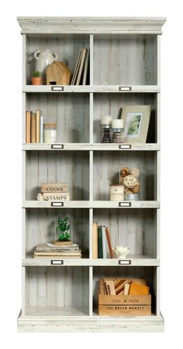 Sauder Barrister Lane Tall Bookcase, White Plank Product image