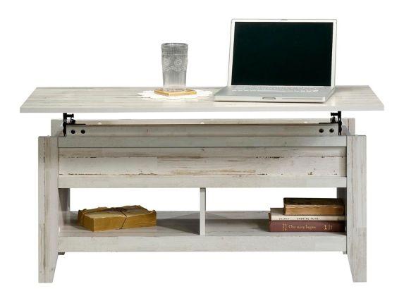 Sauder Dakota Pass Lift Top Coffee Table, White Plank Product image