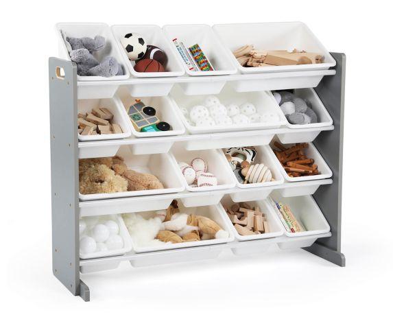 Humble Crew Super-Sized Toy Storage Organizer with 16 Storage Bins, Grey/White Product image