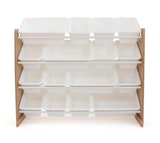 Humble Crew Super-Sized Toy Storage Organizer with 16 Storage Bins, Natural/White Product image