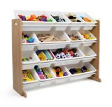 Humble Crew Super-Sized Toy Storage Organizer with 16 Storage Bins, Natural/White | Vendornull