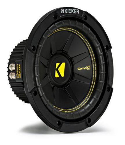 Caisson de graves à double bobine acoustique Kicker, 8 po Image de l'article