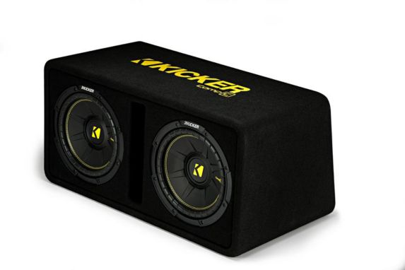 Kicker Dual CompC Subwoofers in Vented Enclosure, 10-in Product image