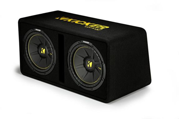 Kicker Dual CompC Subwoofers in Vented Enclosure, 12-in Product image