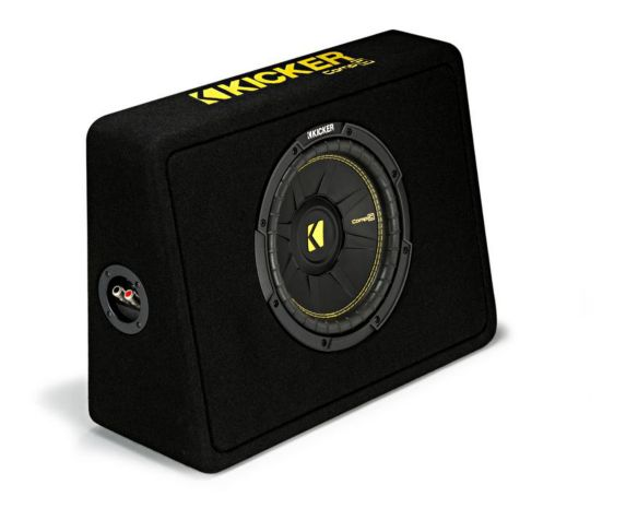 Kicker CompC Subwoofers in Thin Enclosure, 10-in Product image