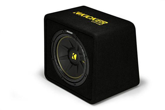 Caisson aéré simple pour haut-parleur de graves Kicker CompC, 12 po, 4 ohms Image de l'article