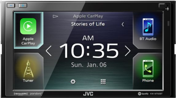 JVC KW-M750BT 2-DIN Bluetooth Digital Media Receiver, 6.8-in Product image