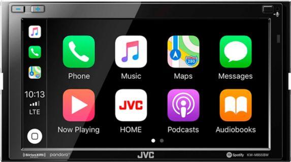 Récepteur multimédia numérique double DIN de 6,8po JVCKW-M855BW Image de l'article
