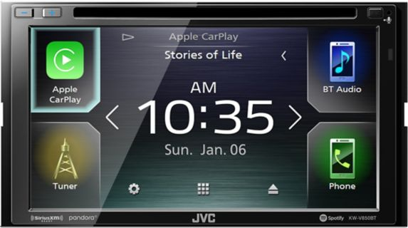 Récepteur AV multimédia double DIN de 6,8po JVCKW-V850BT Image de l'article