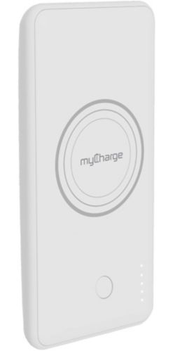 myCharge 5W Qi-Enabled Wireless Charging Power Bank, White Product image