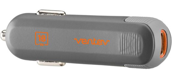 Ventev 18W Power Delivery Car Charger with USB-C to Lightning Connector Product image