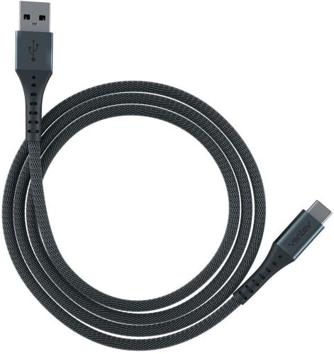 Ventev chargesync™ Alloy USB-C Cable, Grey, 10-ft Product image