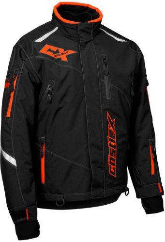 Castle X Thrust Snowmobile Jacket, Black/ Orange Product image