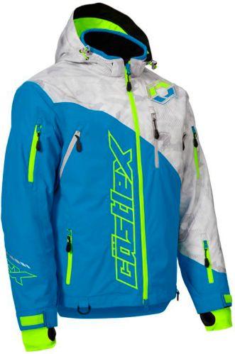 Castle X Stance Snowmobile Jacket Hi-Vis, Grey/ Blue Product image